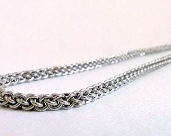 Chunky Jens Pind chainmaille necklace