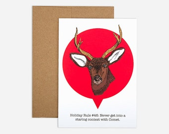SALE - Holiday Staring Contest Greeting Card