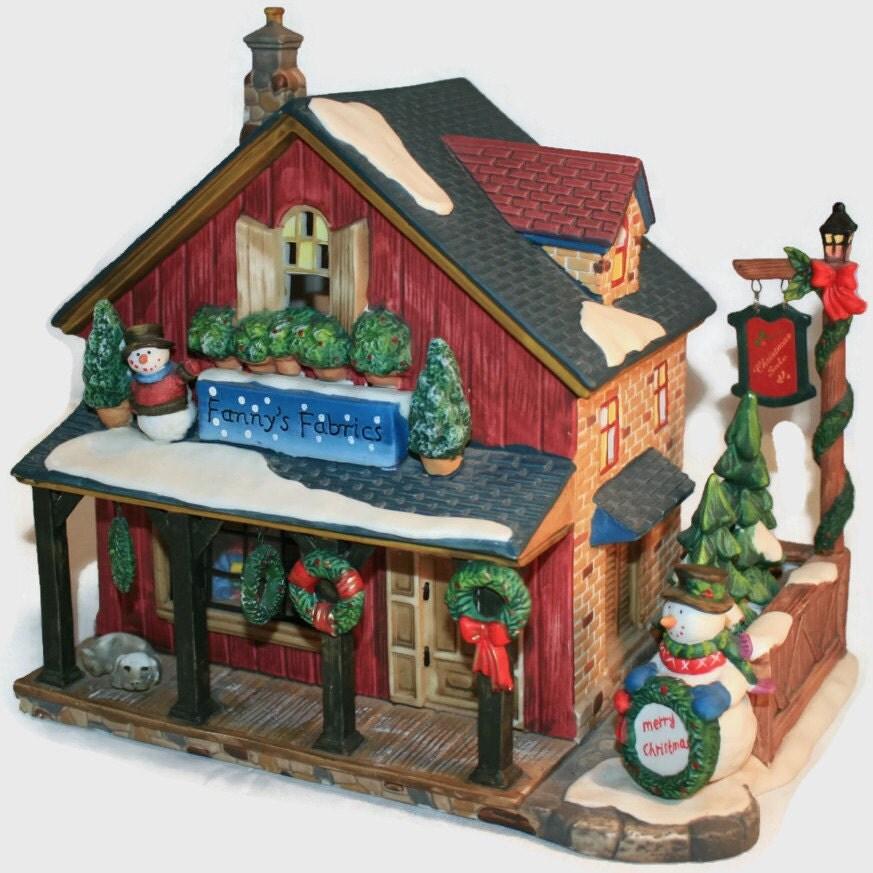 Heartland Valley Village Lighted House: Vintage O'Well Christmas Village Fanny's Fabrics