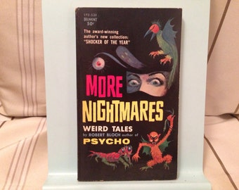 More Nightmares Weird Tales by Robert Bloch Paperback Book Horror Collection