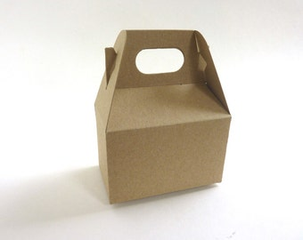 Small gable boxes - Kraft cardstock - Set of 5