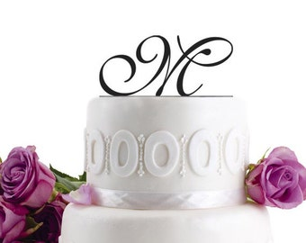 ON SALE !!! Wedding Cake Topper Initial Wedding Decoration Cake Decor
