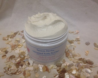 Whipped Body Butter - All Natural, Handmade, Summery Beach Scent
