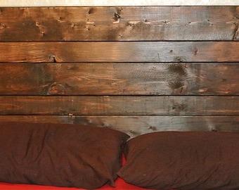 Headboard in queen size, hardwood headboard, dark wood ...