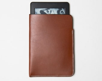 Kindle Horween Leather Case / Sleeve / Cover Handmade Premium Item E-reader