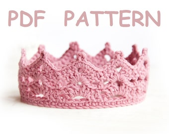 Crochet Baby Crown Pattern - tiara - Easy level crochet - PROMO price