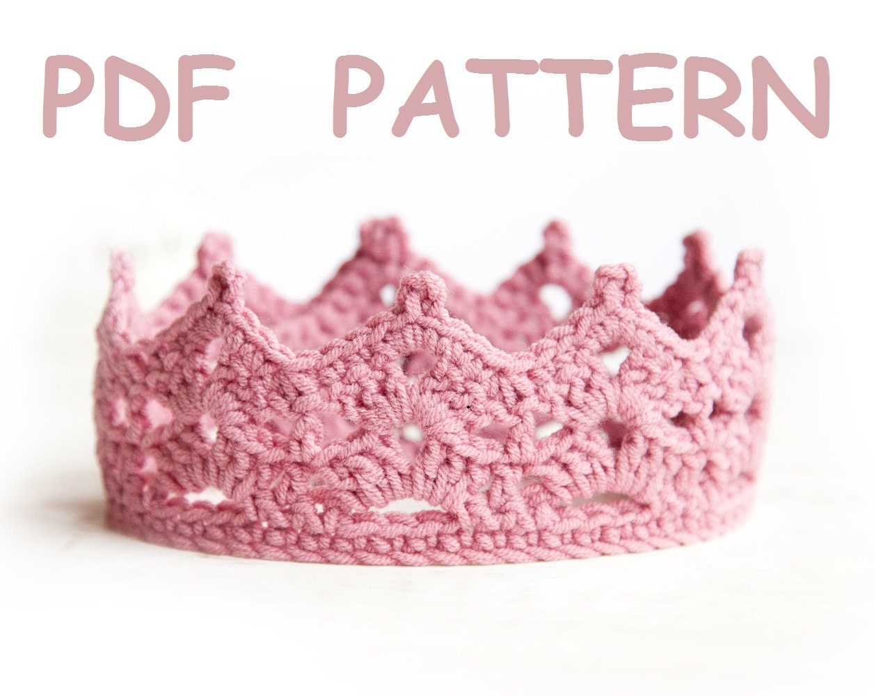 Crochet Baby Girl Clothes Patterns : Crochet Baby Crown Pattern tiara Easy level crochet