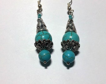 """Earrings """"Turquois & Silver 1"""""""