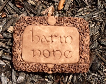 """Wiccan Rede """"Harm None"""" Wall Hanging"""