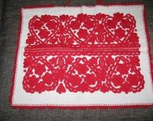 Hand embroidered Hungarian pillow case from Kalotaszeg /Transylvania