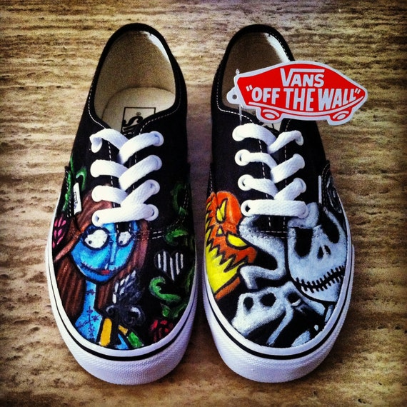 Nightmare Before Christmas Adult Custom VANS Shoes