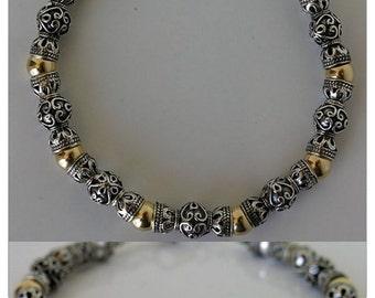 Bracelet, silver, Goldfill #23612