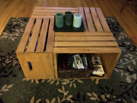 items similar to handcrafted 4 crate coffee table on etsy