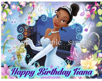 The Princess and the Frog Tiana Frosting Sheet Cake Topper