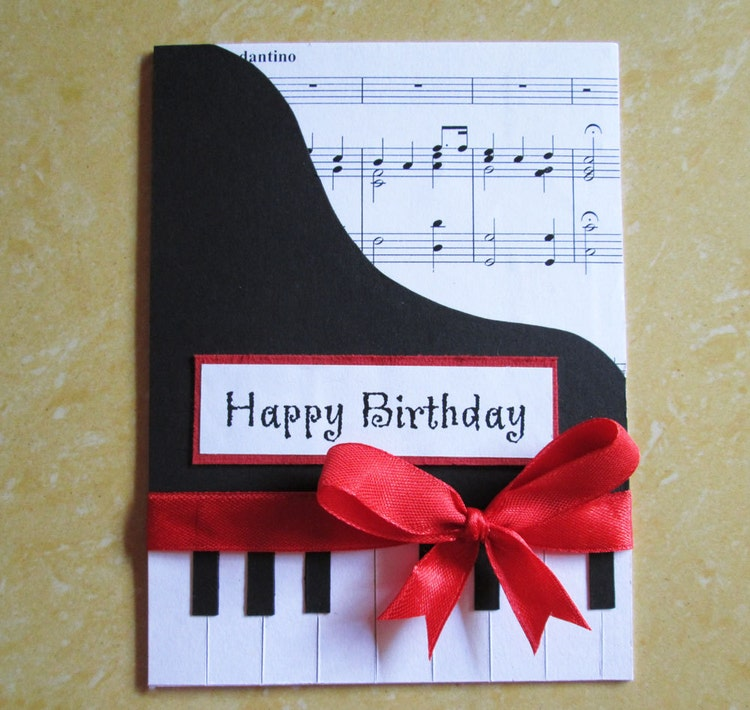 Piano Happy Birthday Card Music Themed By Dreamsbytheriver