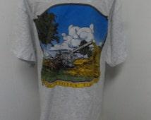 Vintage Case Threshing Machine Threshin' Time Farming Shirt Adult Size Large
