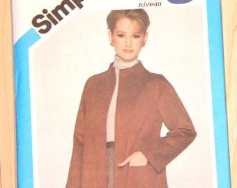 Vintage Simplicity Misses' and Junior Jacket 1980s Pattern 5263 Size 14