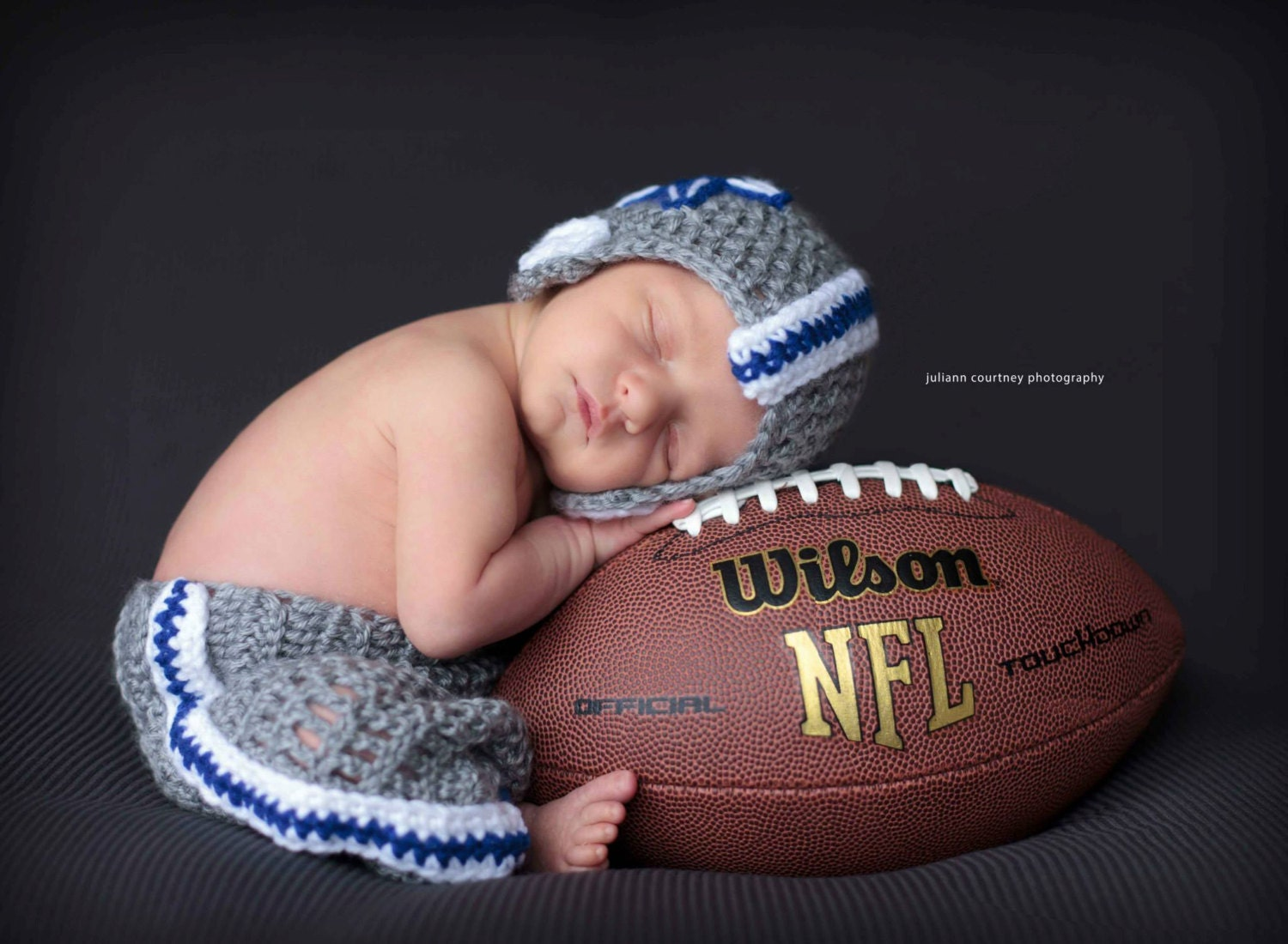 Crochet Dallas Cowboys Football Set Includes Helmet and