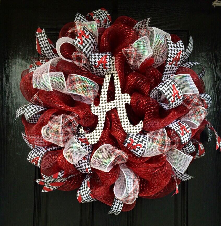 Crimson Alabama Wreath Bama Wreath Roll Tide Wreath