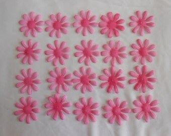 1.5 Inch Pink Fabric Flowers - 20 Count