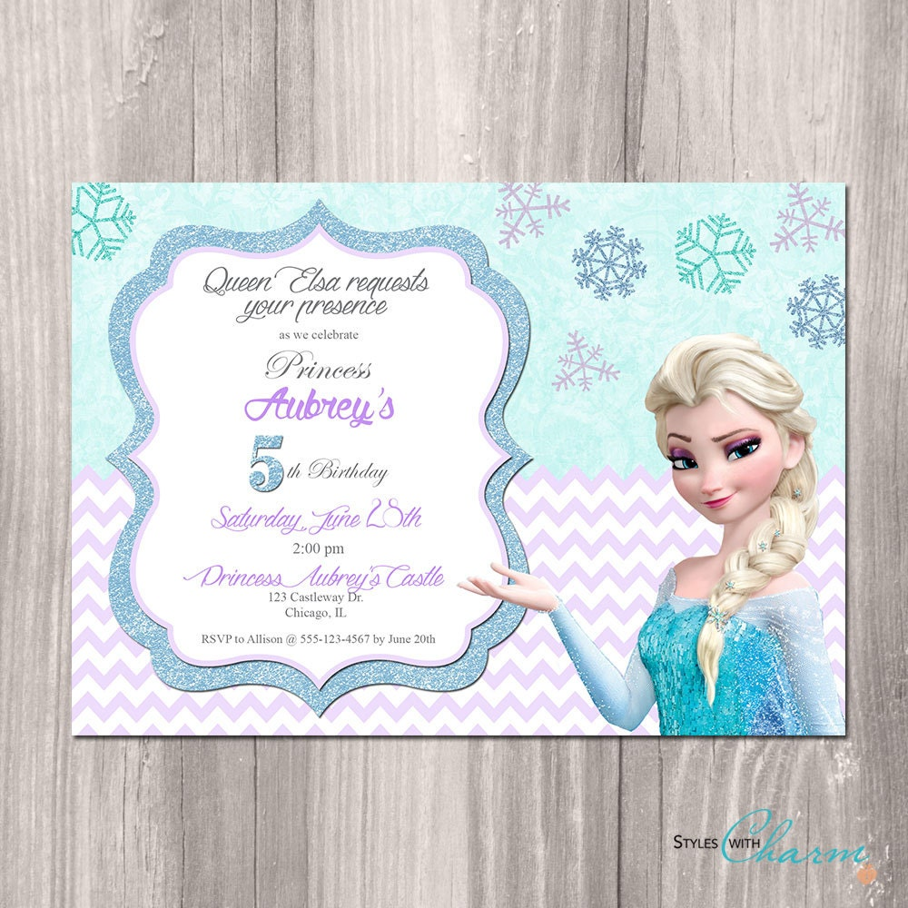 Frozen Birthday Invitation Frozen Printable by StyleswithCharm