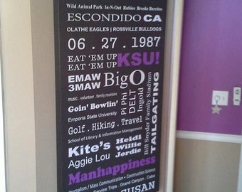 """20"""" x 40"""" Bus Scroll Subway Sign Family Memories"""