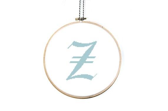 Items Similar To Letter Z Cross Stitch Pattern