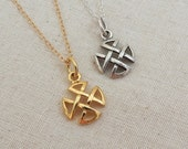 Sterling Silver Celtic Jewelry Necklace, Irish Jewelry, Silver Celtic Knot Cross Necklace