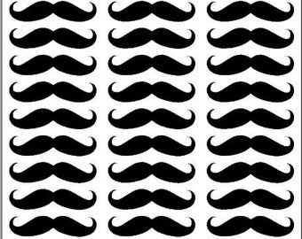 Mini Mustache Decals! 30 per sheet!!