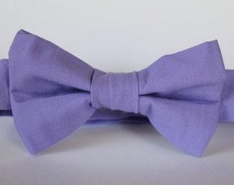 Calming purple bow tie, baby, boy, adjustable velcro closure