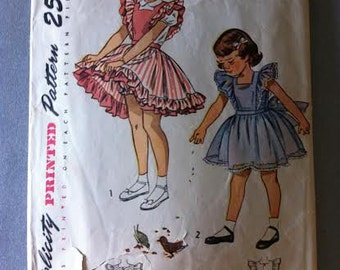 Simplicity Sewing pattern for Child's Pinnafore Dress