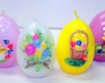 12 assorted handpainted Easter Egg Candles from Germany