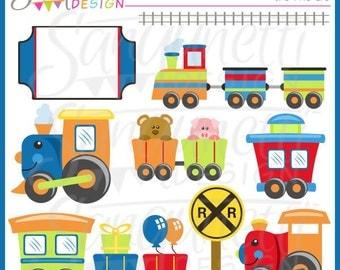 Train Clipart, Transportation Clipart, Party Clipart, Train Clip Art, Railroad Clipart, Tracks Clipart, Animal Train Clipart