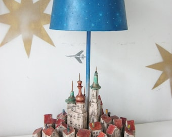 """Lamp """"The sky of Europe"""""""
