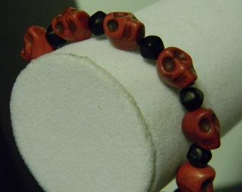 Red Skull Bracelet