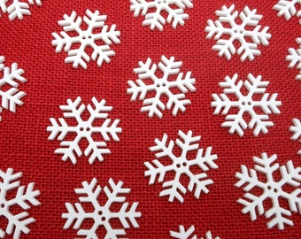20 Snowflake Buttons - 1 1/2""