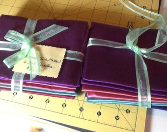 Fat quarters of Radiance silk/cotton blend fabric