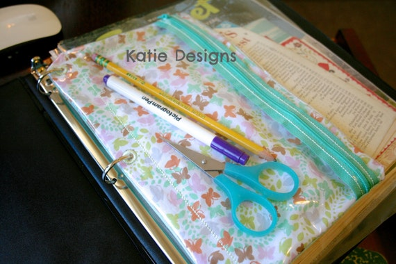 In The Hoop 3 Ring Binder Zipper Pouch Machine Embroidery