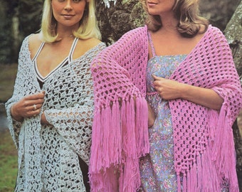 PDF crochet shawls vintage crochet pattern pdf instant download pattern only pdf 1970s