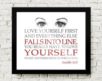 Lucille Ball Quote Print