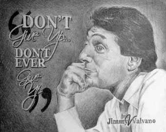 """Jim Valvano Print Limited Edition signed and numbered by the artist 11""""x14"""""""