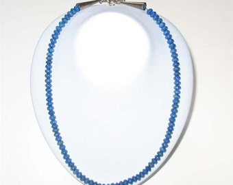 Beautiful Vintage Lapis Bead Sterling Necklace