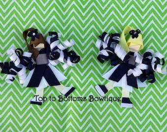 Customizable cheerleader ribbon art clippie