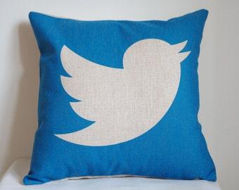 Twitter pillow cover,Twitter pillow case, social media pillow