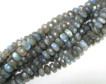 8mm Faceted Labradorite Bead Strand