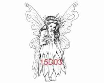 Bridal Fairy Rubber Stamp - 15D03