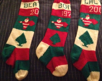 2017 Personalized Handknit Christmas Stocking