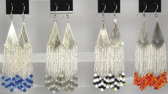 Chandelier Earrings with Swarovski Crystals