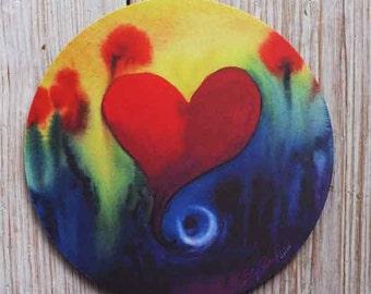 Mouse Pad mousepad Watercolor Heart Original Watercolor