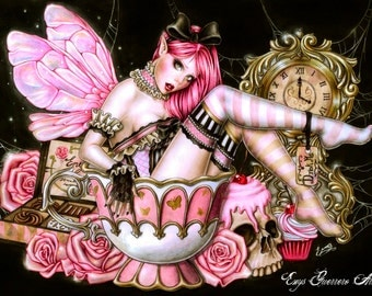 Tea Fairy - Fantasy Art - Print 6x8